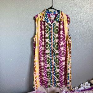Postcards•. Multi colored maxi dress